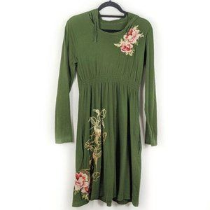 JWLA Johnny Was Embroidered Long Sleeve Dress